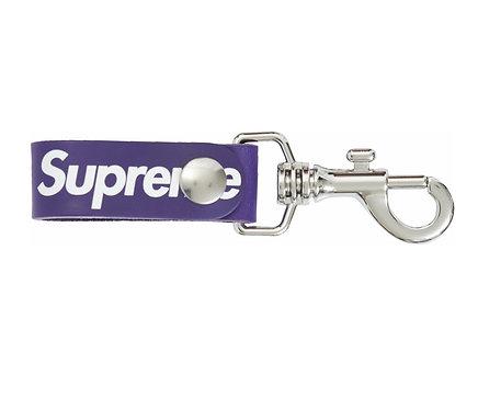 Supreme Leather Key Loop