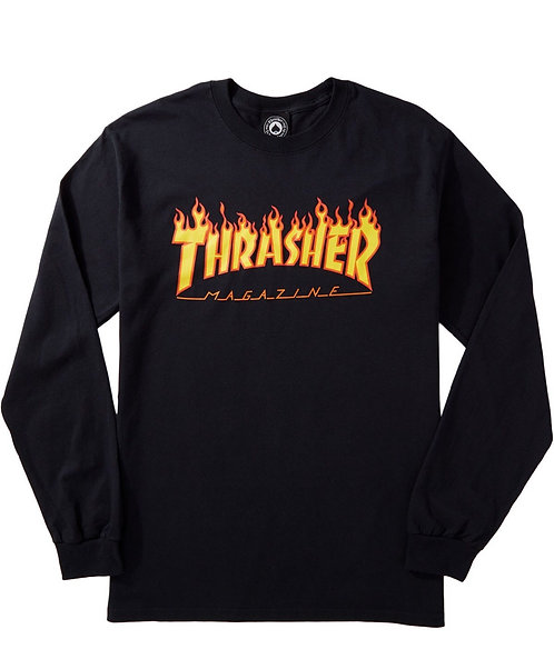 Thrasher Flame L\S Tee