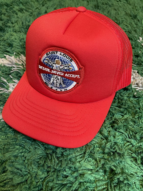 Dictate Astronaut Trucker Cap (Cherry Red)