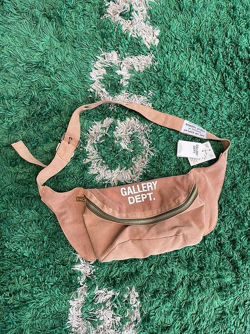 GALLERY DEPT Logo-Print Distressed Canvas Belt Bag