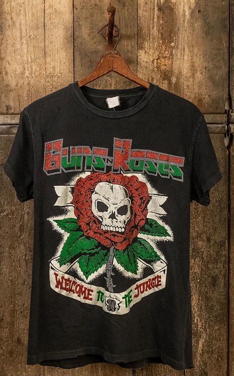 """Made Worn Guns n Roses """"Welcome to the jungle"""" Tee"""