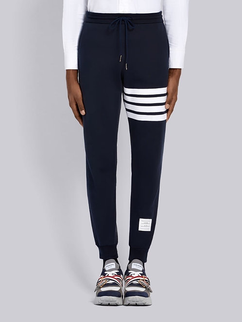 THOM BROWN 4-SNAP FRONT ELASTIC TRACK TROUSERS