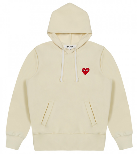 CDG PLAY PULLOVER HOODIE (NO ZIPPER)