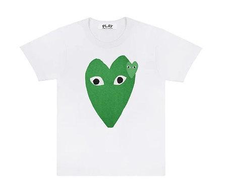 CDG PLAY GREEN HEART TEE