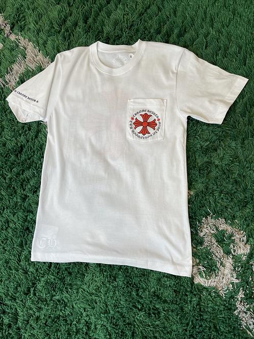Chrome Hearts Red Plus Logo Tee