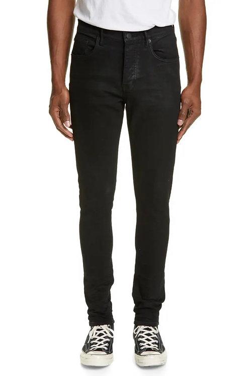 Purple Slim Fit Jeans Black Resin