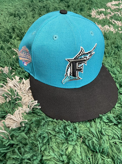 Florida Marlins Crystals From Swarovski World Series Patch Fitted