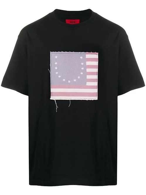 424 Smiley Flag Tee