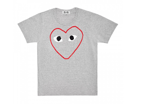 CDG PLAY RED HEART OUTLINE