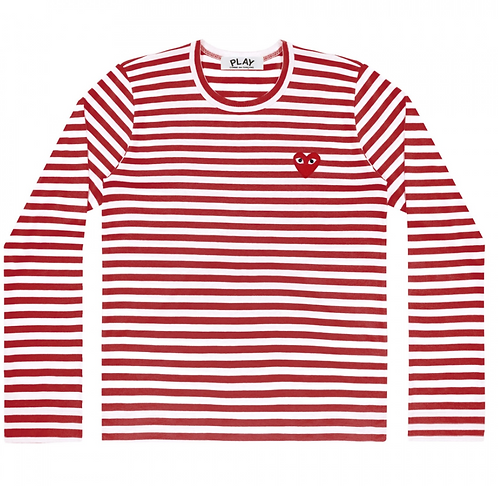 CDG PLAY STRIPED LONG SLEEVE
