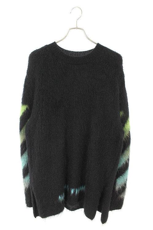 OFF-WHITE back arrow gradation mohair knit