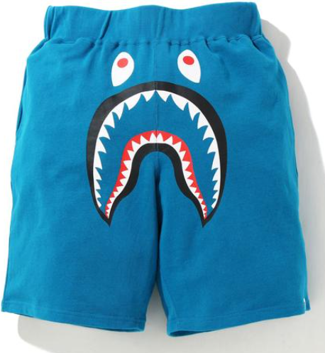 BAPE SHARK WIDE SWEAT SHORTS