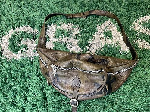 Chrome Hearts Leather Dagger Zip Snut Pack Camo Bag