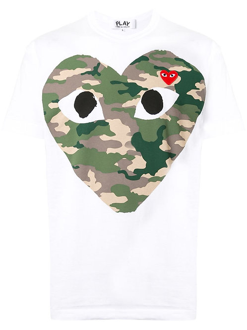 CDG Play camouflage T shirt