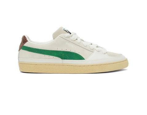 RHUDE White & Green Puma x Rhuigi Edition Suede Low Sneakers