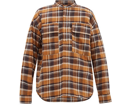 Fear of God Plaid Pullover Cotton Shirt In Brown