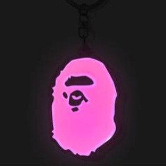 Bape Ape Head Reflective Keychain