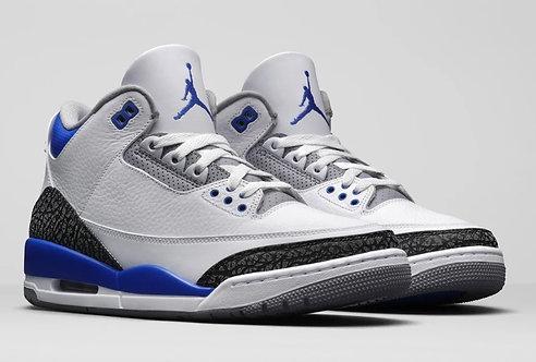 Jordan 3 Blue Racer