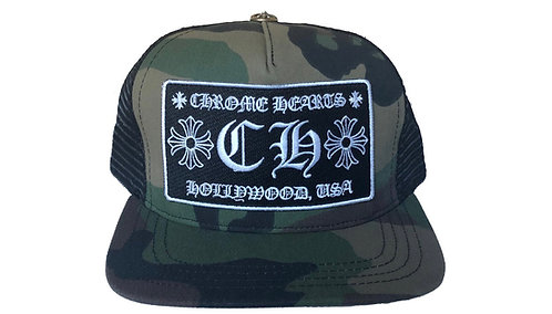 Chrome Hearts Camo Trucker Cap