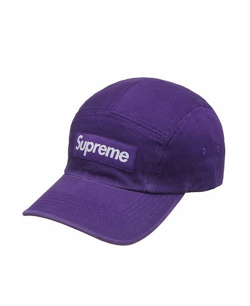Supreme Purple Washed Chino Camp Cap