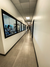 Clinical hallway from the end