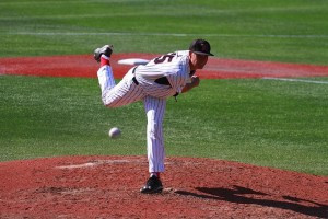 Pictured above: Dustin Hunt, third year Northeastern baseball pitcher from Andover, MA. Courtesy of Kristen Hunt