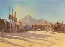 Закат в Помпеях