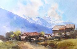 Горная деревня.