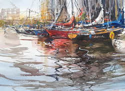 Boats in I-Bourg, Amsterdam