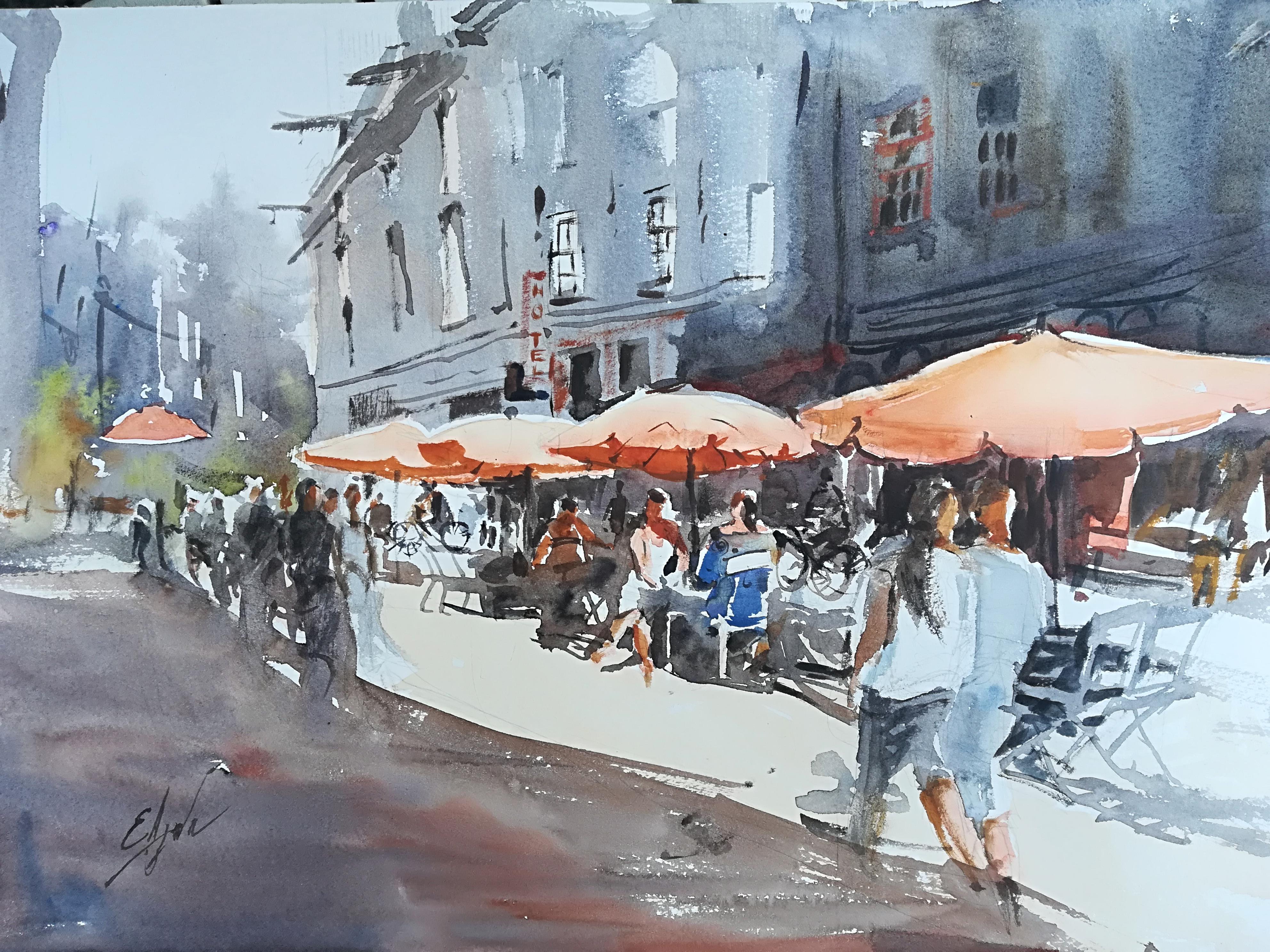 Оранжевые зонтики, Амстердам