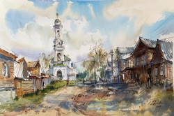 Little town by the Volga river