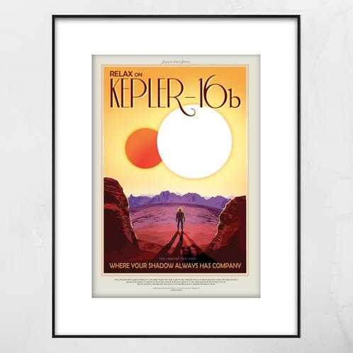 Kepler-16b Framed Print
