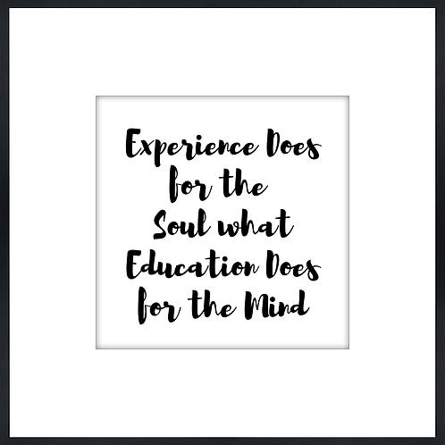 "Experience & Education - 9"" x 9"""
