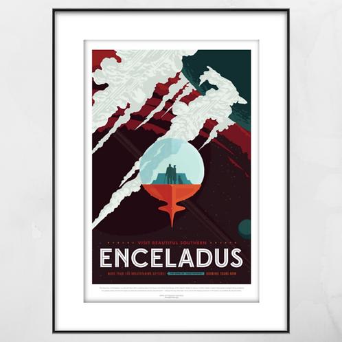 Enceladus Framed Print