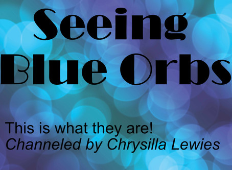 Seeing Blue Orbs of Light