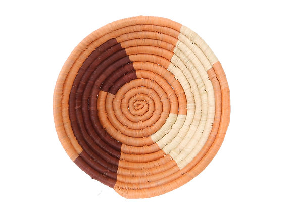Small Amber Msanii Round Basket by KAZI