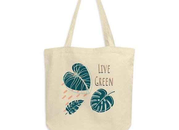 'Live Green' Organic Cotton Tote