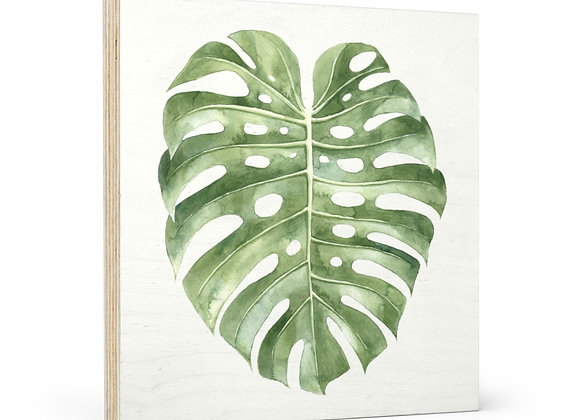 'Mellow Monstera' Wood Wall Art