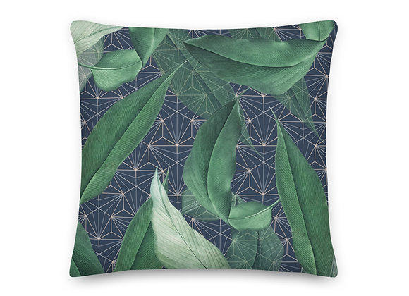 Geo Leaves Pillow