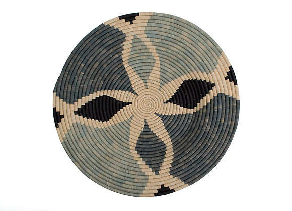 Extra Large 'Nea Opal Gray' Woven Wall Art Plate by KAZI