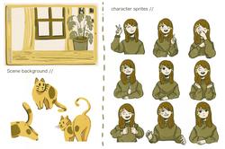 Visual Novel Project; Character sprites