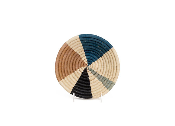 Small Camel Wheel Round Basket by KAZI