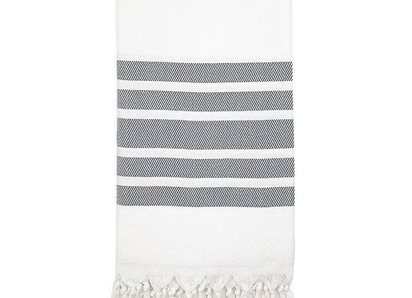 Herringbone Stripe Turkish Towel by SLATE + SALT