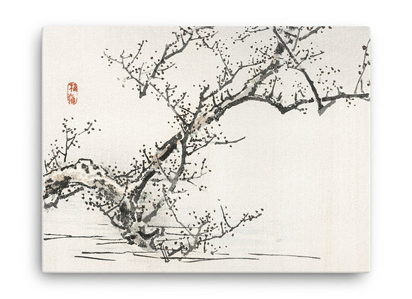 'Tree Against the Backdrop of Water' by Kōno Bairei