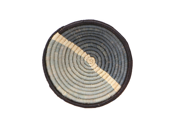 Small 'Opal Gray Nusu' Basket by KAZI