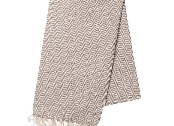 Sand Herringbone Turkish Towel by SLATE + SALT