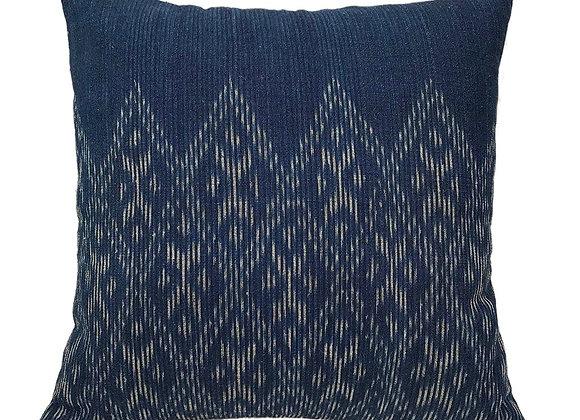 Handmade Indigo Diamond Pillow Cover by SLATE + SALT
