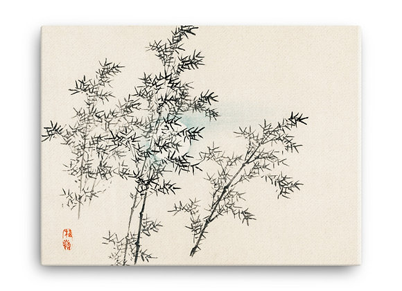'Bamboo' by Kōno Bairei on Canvas