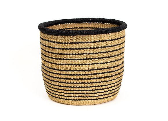 Large Striped Black Grass Planter by KAZI