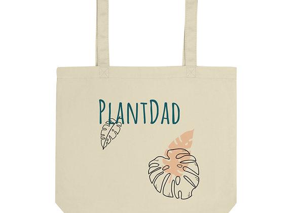 "Organic Cotton ""PlantDad"" Tote"